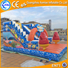 Colorful Cartoon Giant Inflatable Water Park Slide Clearance for Kids Play