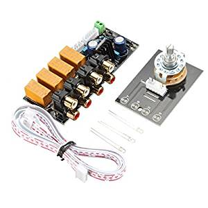 Audio Input signal Selector Relay Board// Signal switching amplifier board DIY