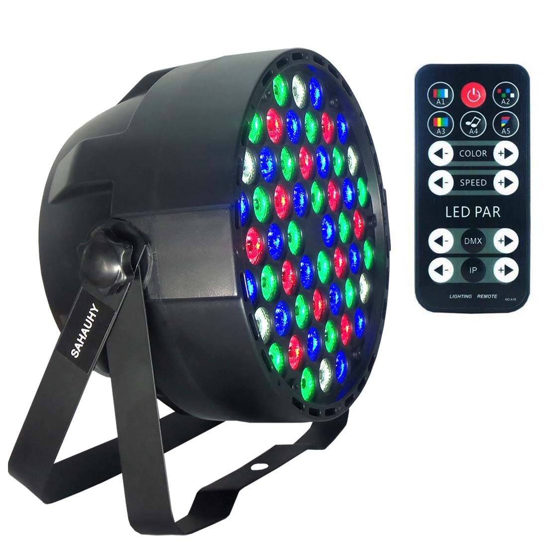 LED Par Lights,SAHAUHY RGBW 54 Led Stage Lights Sound Activated DMX Color Mixing Up Lighting