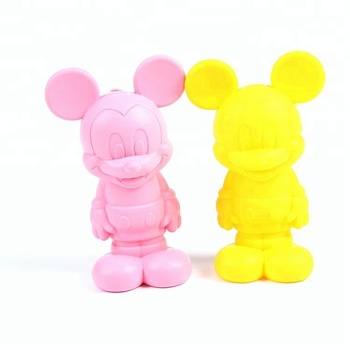 Wholesale silicone cute 3D mickey purse promotional student pen bag coin zreo wallet for women