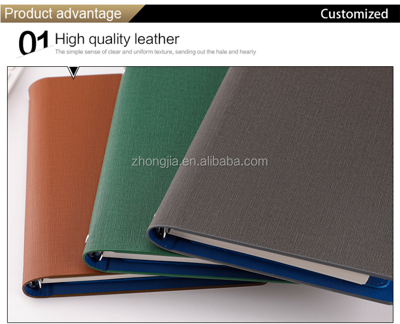 Popular Custom Design Hardcover Notebook Agenda Planner Printing with Best Price Eco Wholesale Custom 6-ring Notebook