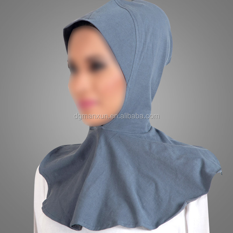 Soft Comfortable Knitted Fabric Muslim Women Hijab Cap