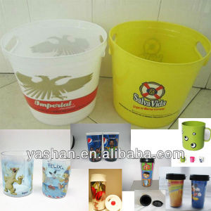 Stone bar Plastic ice bucket/beer buckets bar ice bucket for party/wine brand promotion printing