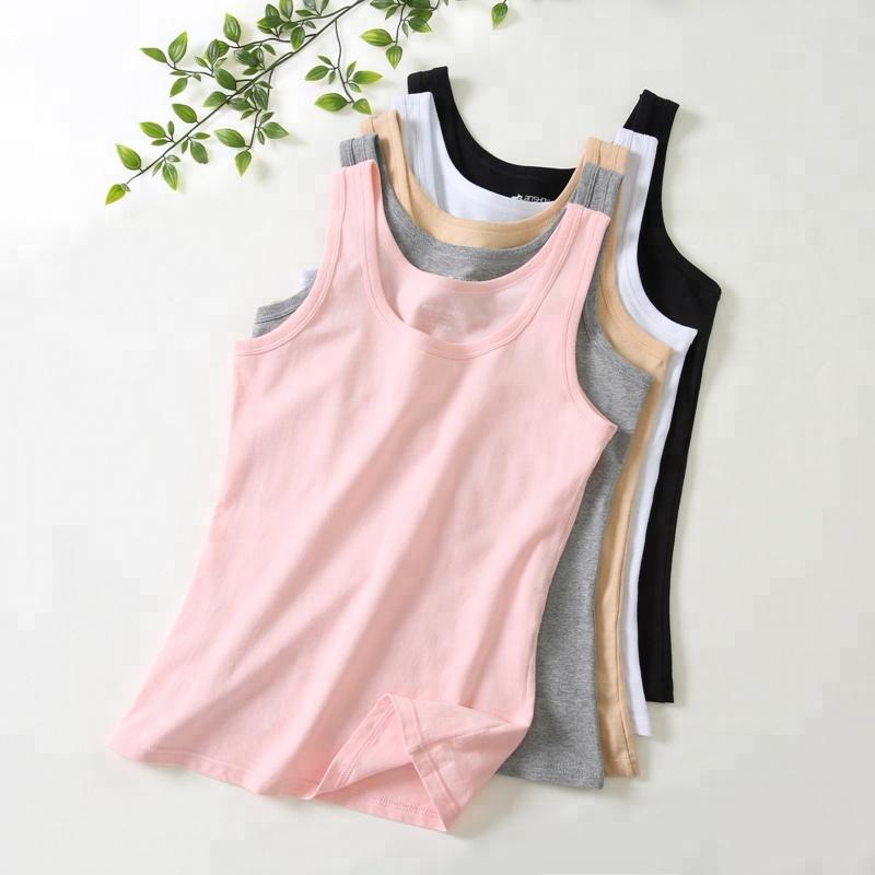 Custom high quality lycra breathable cotton women blank tank top