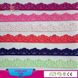 1.5-2 cm higher quality pant use bridal french lace trimming lingerie lace lycra lace LSHB12