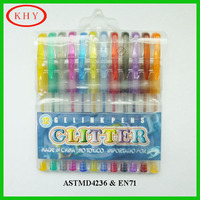 Promotional high quality colored gel ink pen set