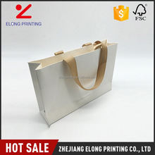 Hot sale excellent quality small white stand up paper bags with handle