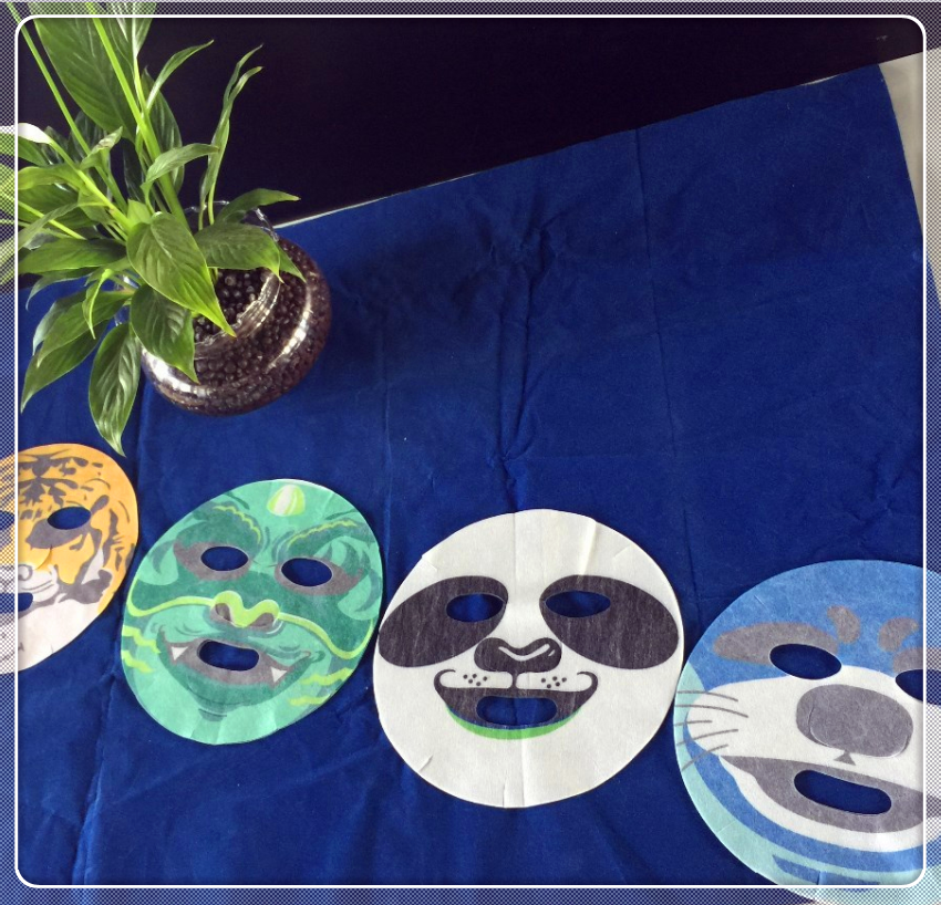 High density nonwoven fabric animal printed mask sheet good quality