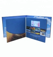 Customized Dimension Full Print Lcd 4.3 Inch Video Brochure With Pocket