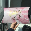 40x25x8cm customized gold foil pillow box for hair extension packaging