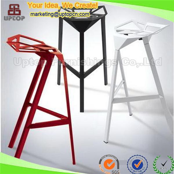 Sp Ubc322 Design Chair One Aluminum Alloy 3 Leg Bar Stool