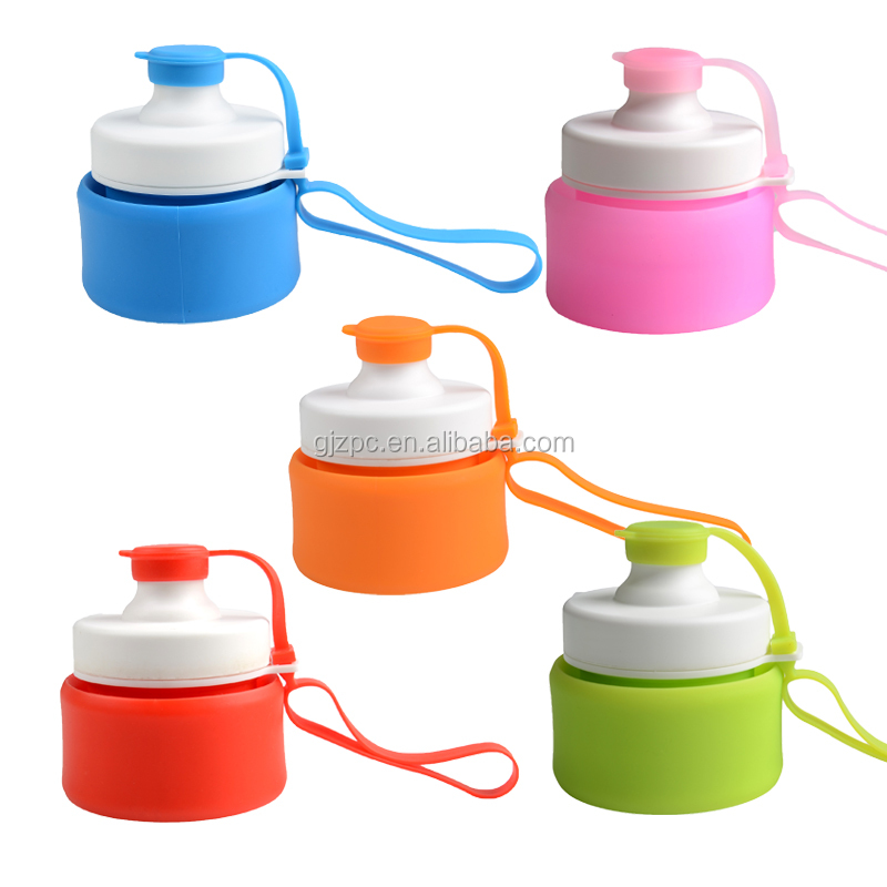 Promotional Items BPA Free Silicone Plastic Collapsible Water Bottle Wholesale