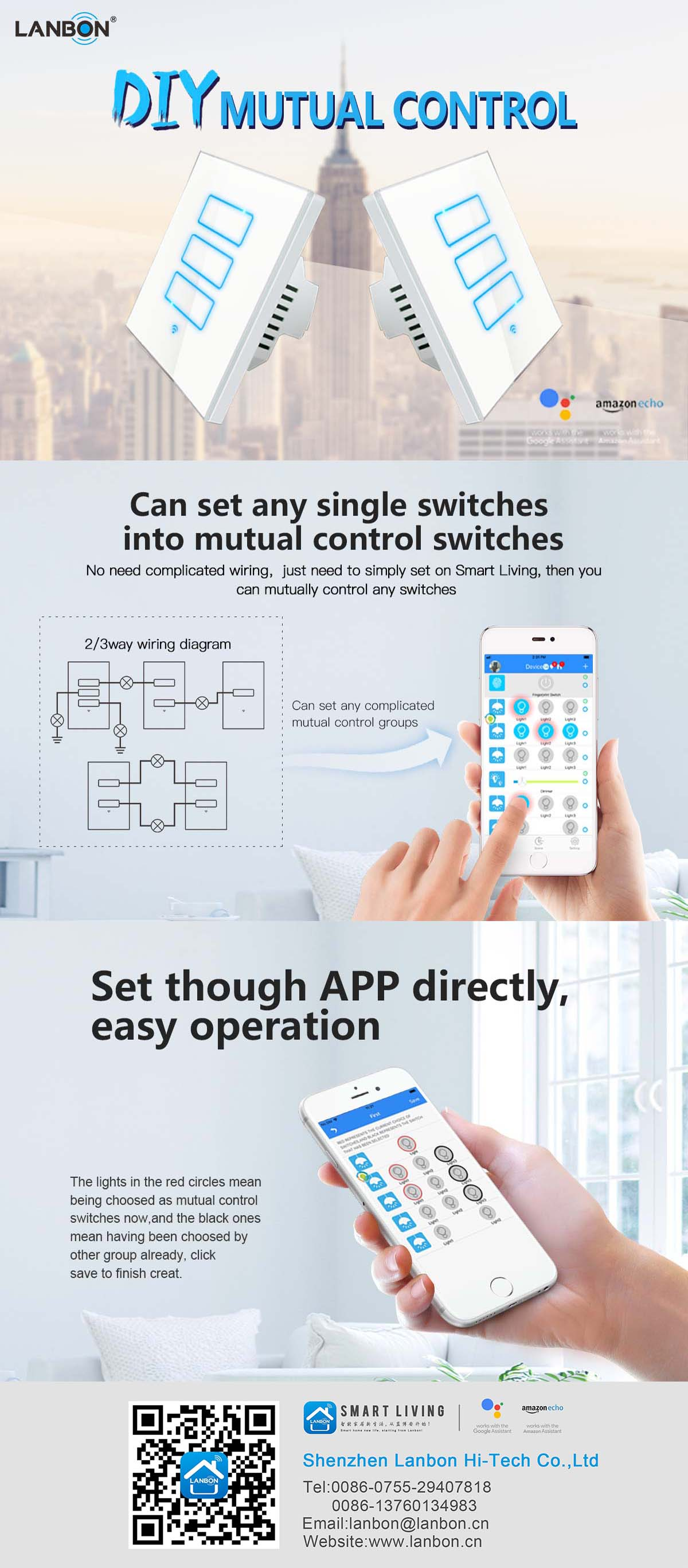 Eu Us Standard Wifi Wall Touch Light Switch 3 Gang For Smart Home Automation System Work With Alexa Speaker And Google Buy Way Echo Supermutual Control