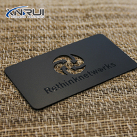 Custom cheap engraved cut stainless steel / aluminum metal business cards