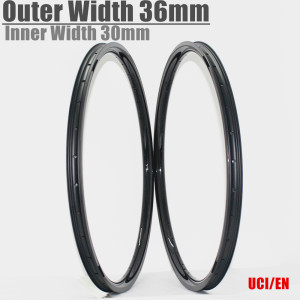 Winowsports carbon moutain bike rims 29er Asymmetric 29 mtb rim outer width 36mm inner 30mm wide 28/32H