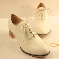 High quality women kitten heels single shoes England style lady casual shoes