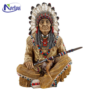 Factory price native American Indians fiberglass statue for sale NTFS-020C