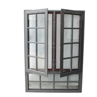 Thermal break aluminum profile double swing hinged window