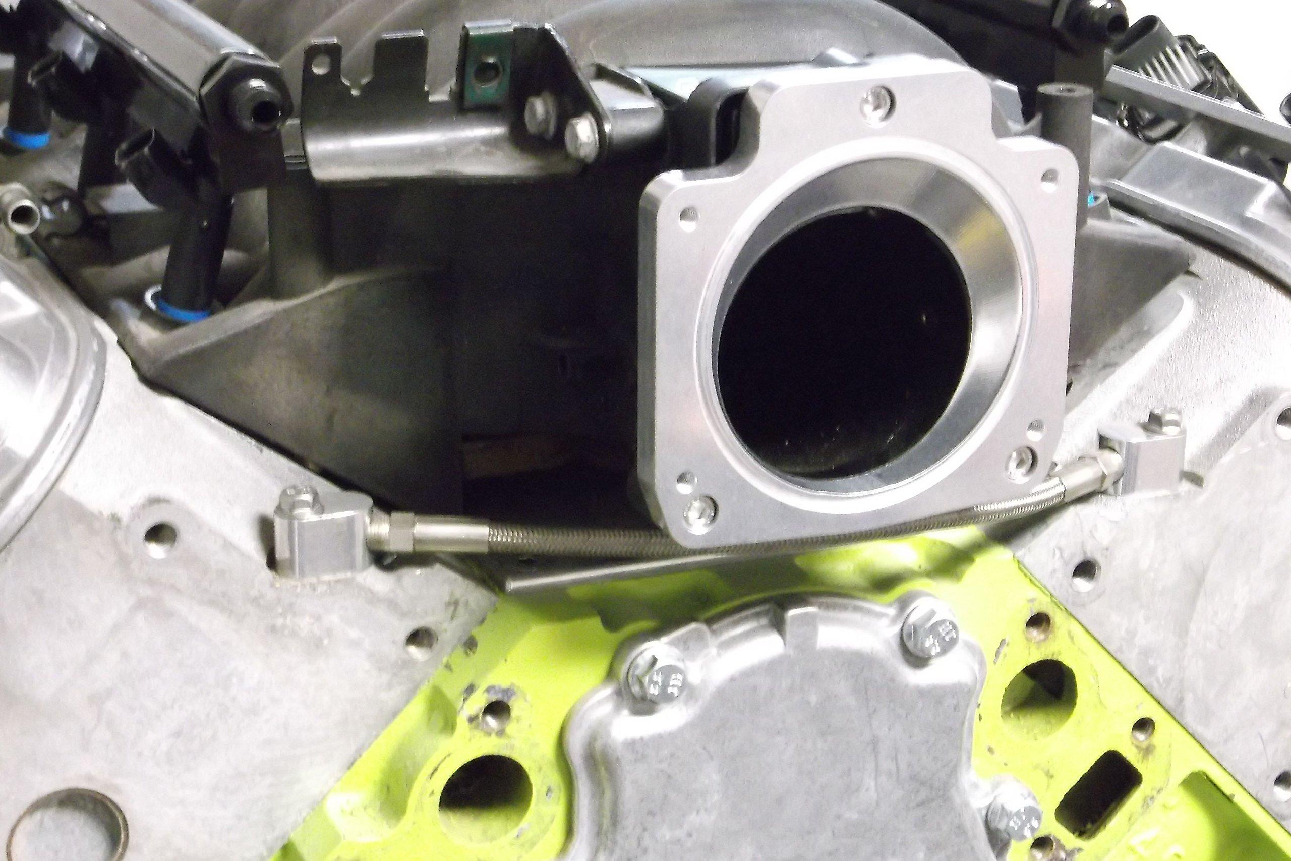 LS Throttle Body Adapter / LS1 3 Bolt Intake to LS3 4 Bolt TB DBC 551513