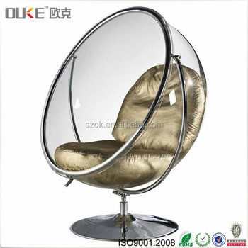 Ordinaire Plastic Material Floor Rotatable Swing Acrylic Bubble Chair Stand