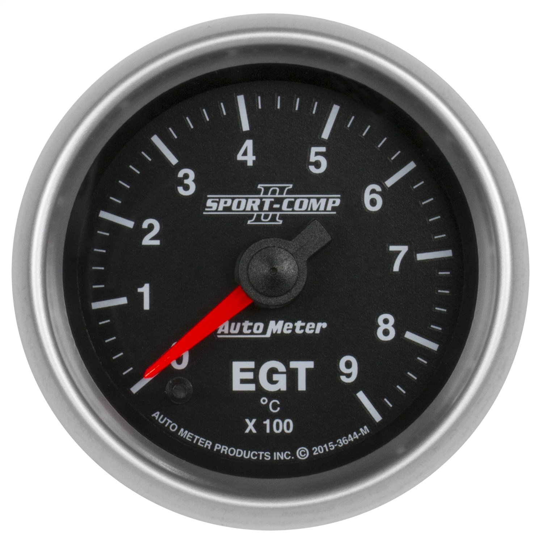 Auto Meter 3600 Sport-Comp II 2-1//16 Mechanical Three-Gauge Interact Pack Oil//Water//Volt
