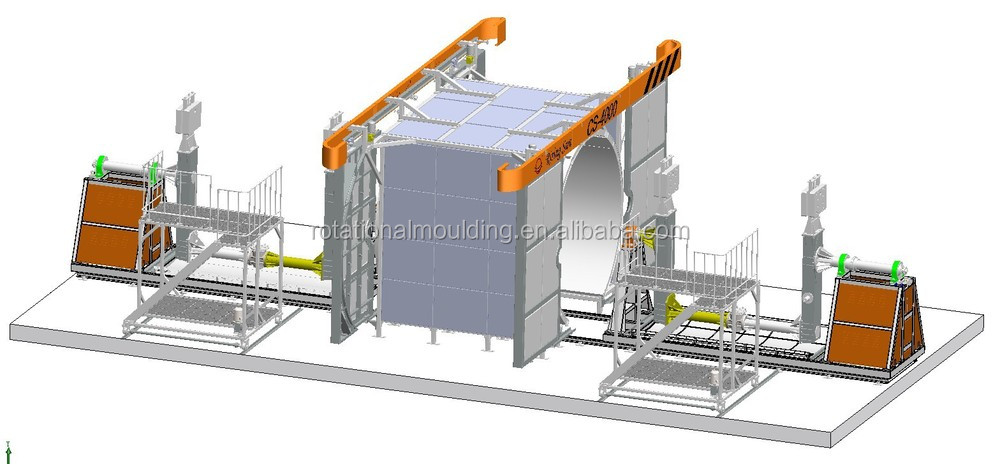 Rotational roto molding plastic water tank machinery