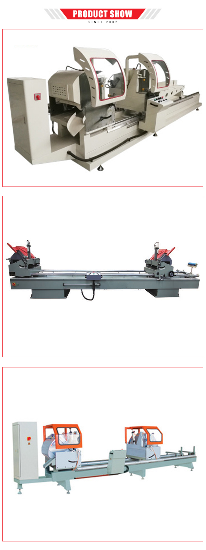 Venster machine snijden saw pvc profielen aluminium raam en deur machine