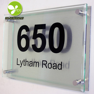 High Custom Acrylic Door Number Plate