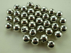 Rhodium Plated Light Beads with Bore Neckel Lead Free more plated color and size support