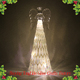 Hand blown christmas glass angel with led light ornaments wholesale