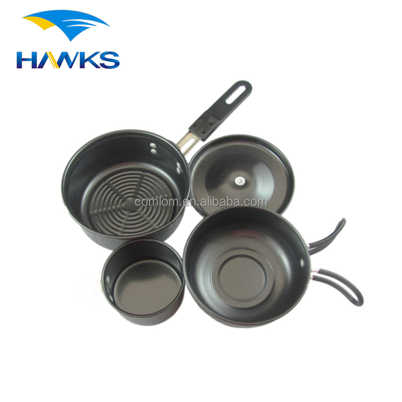 CL2C-DT1303-3 Comlom Non Stick Camping Cookware Set