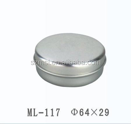 D64x29mm Round Tin Box for Cosmetic