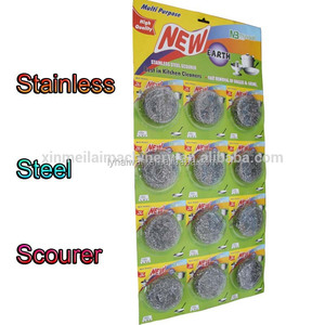 10 gram stainless steel scourer/kitchen scrubber cleaning ball/metallic sponge scourers