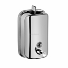 WESDA Dependable Direct Horizontal Wall Mounted Liquid Soap Dispenser (500ml,800ml,1000ml Capacity) - 304 Grade Stainless Steel