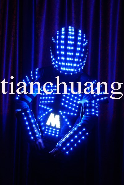 Sparkling Western Modern Dance Costumes / Light Up Led Suits ...