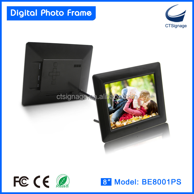 8 inch digital photo frame with photo video and MP3 playback