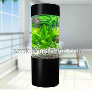 Cylinder Acrylic Wall Mount Fish Bowl Acrylic Fish Tank