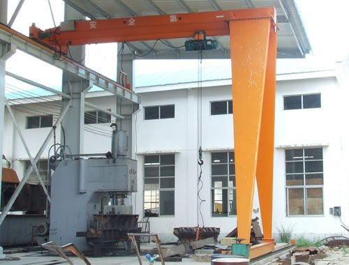 BMH Model Monorail Single Beam Half Gantry Crane