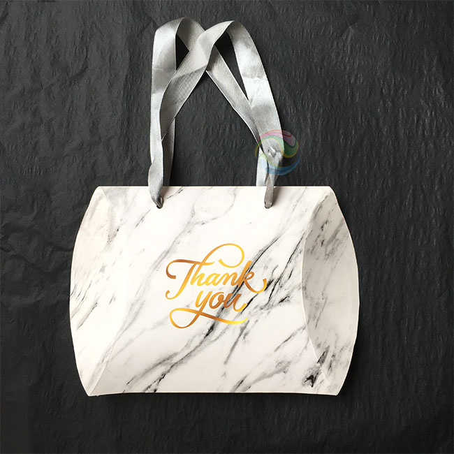 Wholesale White Custom Print Logo Large Hair Extensions Packaging Paper Pillow Gift Box