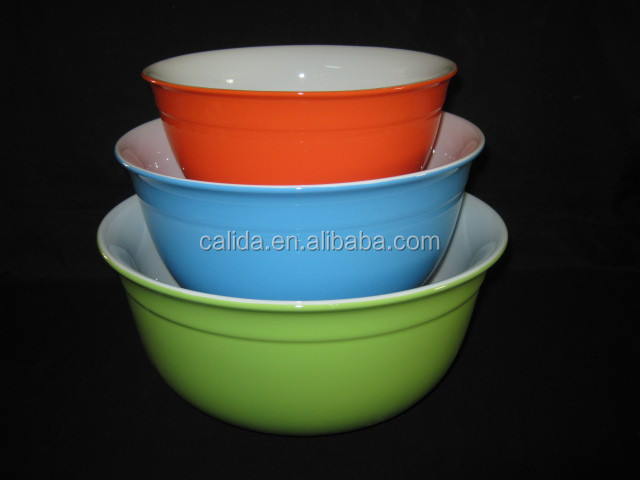 LD11293 9.25 inch colorglazed round ceremic bowls