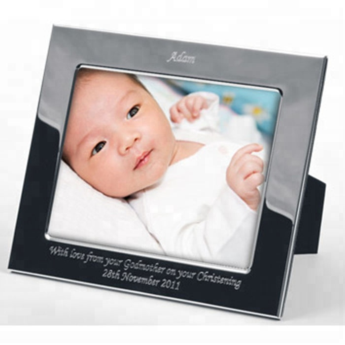 Posteriore Cavalletto Nero Lucido Telaio In Acrilico Inciso a Laser Data Acrilico Baby Shower Photo Frame