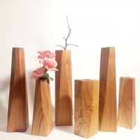 Custom collins luxury black walnut wood vases natural wood flower vases home decor