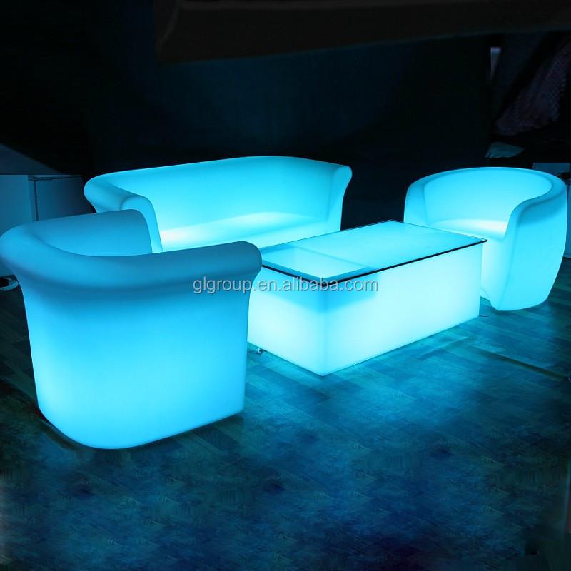 Hot Sell Quality Modern Salon Hookah Lounge Furniture Led Bar Table With  Brightness Led Bulb