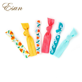 Multi Color Printed Elastic Foe Polyester Personalised Hair Ties ... 98db40544a8