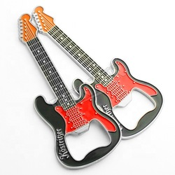 custom personalized funny metal magnet musical instrument  guitar shape bottle opener