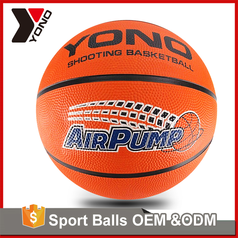 YONO factory wholesale basketball training equipment colorful size 1/2/3/5/6/7 custom rubber basketball for basketball training