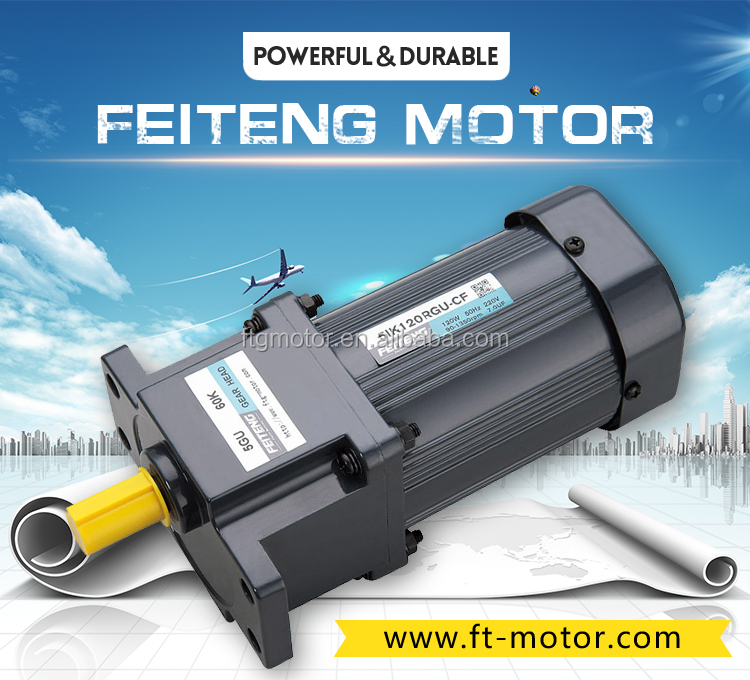 FTG 80mm 220 volt low rpm high torque ac electric gearmotor low rpm gear head motor