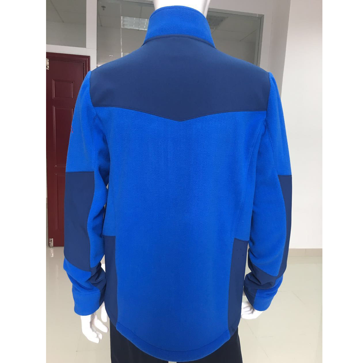 Cheap wholesale high quality custom full zip up outdoor sport polar track coat micro casual fleece jacket men
