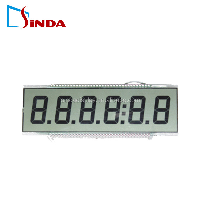 TN positive reflective LCD for fuel dispenser