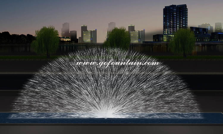 FREE DESIGN Laser Projection Decoration 3D Dig Water Screen Curtain Movie